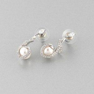 SWAROVSKI LEONORE Leaf Pearl Earrings